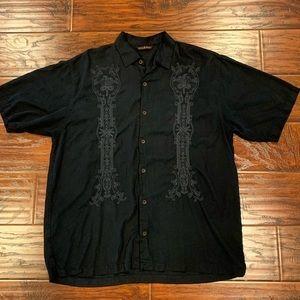 •TOMMY BAHAMA• Black Short Sleeves